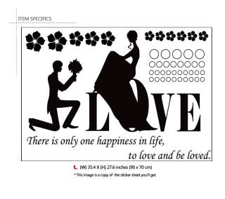 PROPOSE & LOVE QUOTE Mural Art Wall Decor Sticker Decal