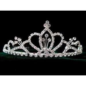 Bridal Prom Crystal Rhinestone Tiara Hair Comb 03