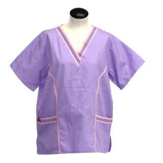 Scrubs Top Medical Nurse Dental Beautician Short Sleeve Style 3094