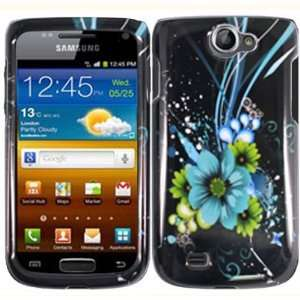 Blue Flower Hard Case Cover for Bell Samsung Galaxy W