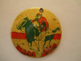 Eppy Western Pinback button 1940s TWO DIFFERENT TOM MIX LONE RANGER