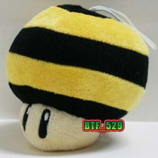 New Super Mario Bros Plush Figure ( 41/2 Bee Mushroom )