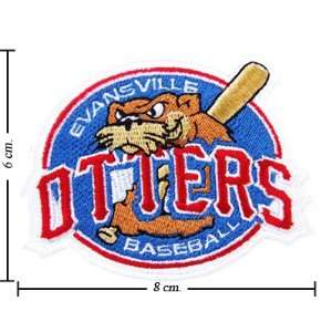 Evansville Otters Logo Iron On Patches: Everything Else