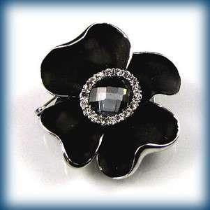 ADDL Item  1pc Austrian rhinestone flower brooch pin