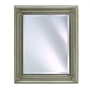 Rectangular Framed Wall Mirror Finish: Antique Silver, Size: 28 x 34