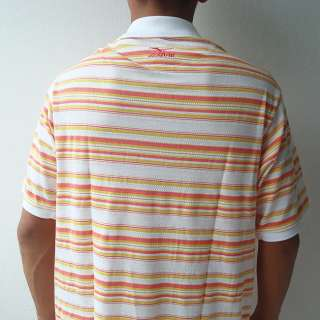 Mizuno Mens Golf Polo Shirt UV Protection Stripes L