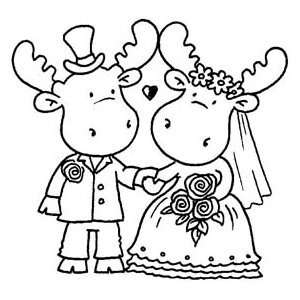 Riley And Company Cling Rubber Stamp Wedding Riley