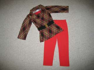 Cowl Tunic Belt Pants Girls 12m Fall Winter Infant Clothes