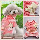 Sweet Heart Pajamas For Dog Clothes Pet Jumpsuit Princess Pants Free