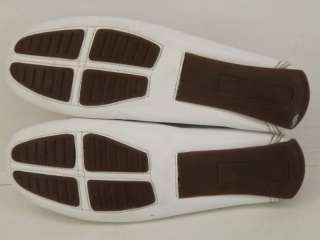 Womens shoes white leather Michael 6 M penny loafer comfort