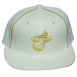 NBA ADIDAS FLEX FIT MIAMI HEAT WHITE WOMEN HAT CAP OSFA