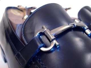 Salvatore Ferragamo Mens Black FENICE Dress Shoes Gancini Bit Loafers