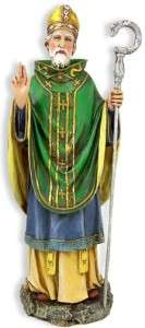 Saint St. Patrick Day Irish Patron Celtic Cross Statue