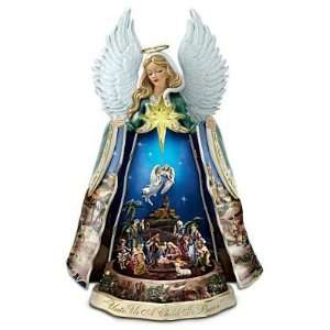 Thomas Kinkade Christmas Talking Musical Illuminated Nativity Angel
