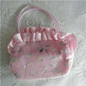 Girls Light Pink & Silver Heart Design Purse Handbag New In Package