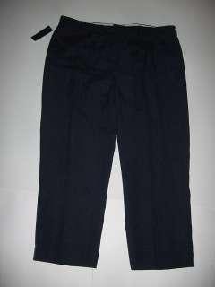 Mens Polo Ralph Lauren Dress Pants Flat Front Linen & Silk NWT Navy $