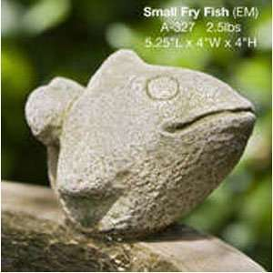 Campania Cast Stone Animal   Small Fry Fish   Natural
