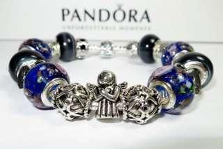 Authentic Pandora Bracelet Guardian Angel w/19 Beads & Charms