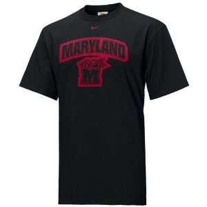 Nike Maryland Terrapins Black Patch T shirt Sports