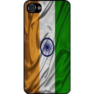 Rikki KnightTM India Flag Black Hard Case Cover for Apple