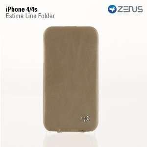 iPhone 4/4S Leather Case Estime Genuine Leather Folder Series   Light