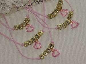One Direction Pink Heart Bracelet & Necklace Harry Liam Zayn Louis