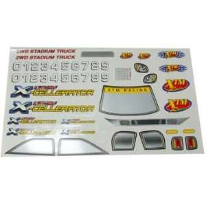 XTM Parts Decal   X Cellerator Electric Toys & Games