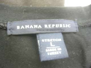 LOT 2 BANANA REPUBLIC Brown Black Short Sleeve Shirt L