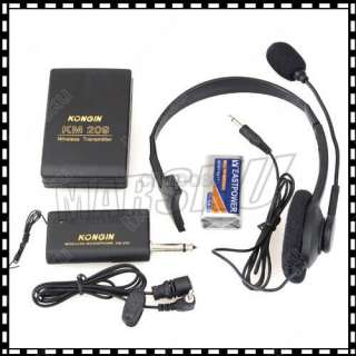 Wireless Remote Microphone Headset Stage Mic Receiver