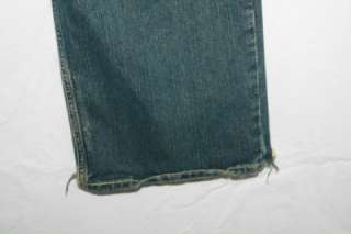 ABERCROMBIE 14 BOYS BAGGY JEANS DISTRESSED STAINED HANDCRAFTED FRYED