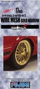 Fujimi TW20 Wire Mesh Gold Narrow Wheel & Tire Set 1/24