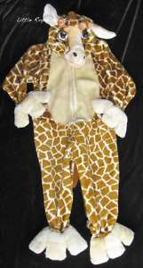 Giraffe Costume Boys Girls Brown Full Body Zipper Plush