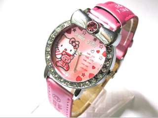 Fashion HelloKitty Girl Crystal Quartz Sport ODM Watch Wrist Watch K5