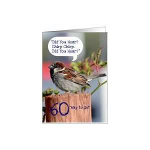 Happy 60th Birthday, Funny Chirping Bird Photo Card: Toys & Games