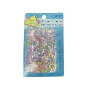 220 piece heart charms assorted colors   Pack of 48 Toys & Games