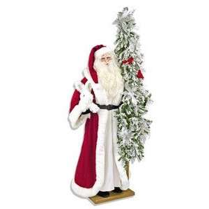 57 Ditz Father Christmas Santa Rabbit and Silver Tree
