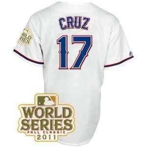 Texas Rangers Nelson Cruz Replica Home 2011 World Series Patch Jersey