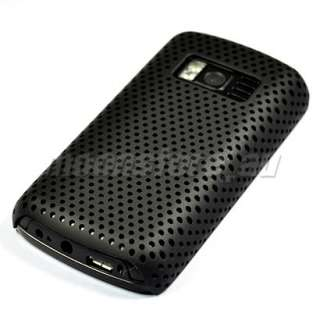 HARD MESH CASE COVER POUCH FILM FOR NOKIA C6 01 BLACK