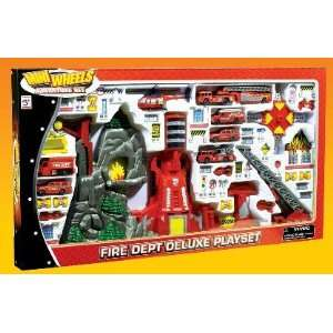 Mini Wheels Fire Dept. Deluxe Playset (Station, Vehicles