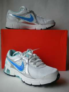 Nike Womens Air Max Run Lite + 2 White Blue Silver Sneaker