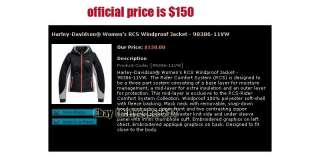 Brand NEW HARLEY DAVIDSON WOMENS RCS WINDPROOF Rider Comfort JACKET