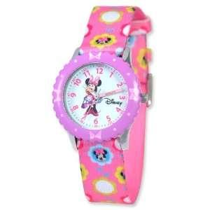Disney Kids Minnie Mouse Printed Pink Fabric Time Teacher