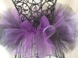 Newborn Infant Baby Black/Purple Tutu Feather headband
