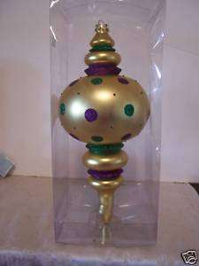 MARDI GRAS GOLD HANGING ORNAMENT DECORATION PARTY
