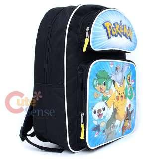 Pokemon Black & White School Large Backpack &Lunch Bag