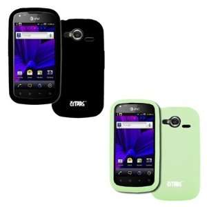 Burst P9070 2 Pack of Silicone Skin Case Covers (Black, Glow in the