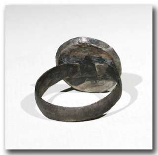 Medieval Silver Ring with Cross, c. 11th Century A.D.