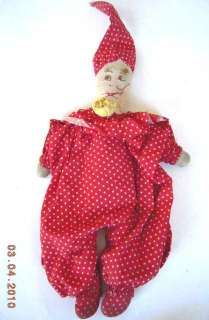 antique HANDMADE CLOWN SOCK STUFFED DOLL TOY owned by Edward Michael