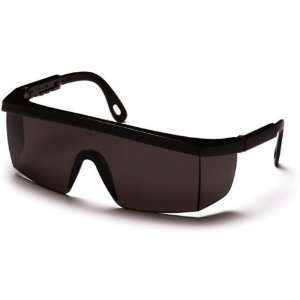 Pyramex Integra Safety Glasses   Gray Lens, Black Frame SB420S, Single