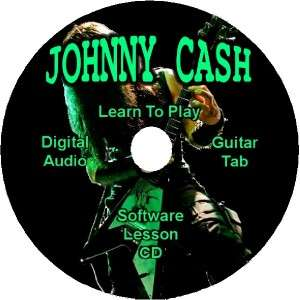 JOHNNY CASH Guitar Tab Lesson Software CD 14 Songs